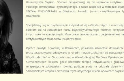 Psychoterapia psychodynamiczna – Urszula Sokalska, Katowice [wywiad]